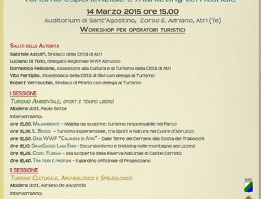 Locandina Turismo Abruzzo Attrattivo 2015
