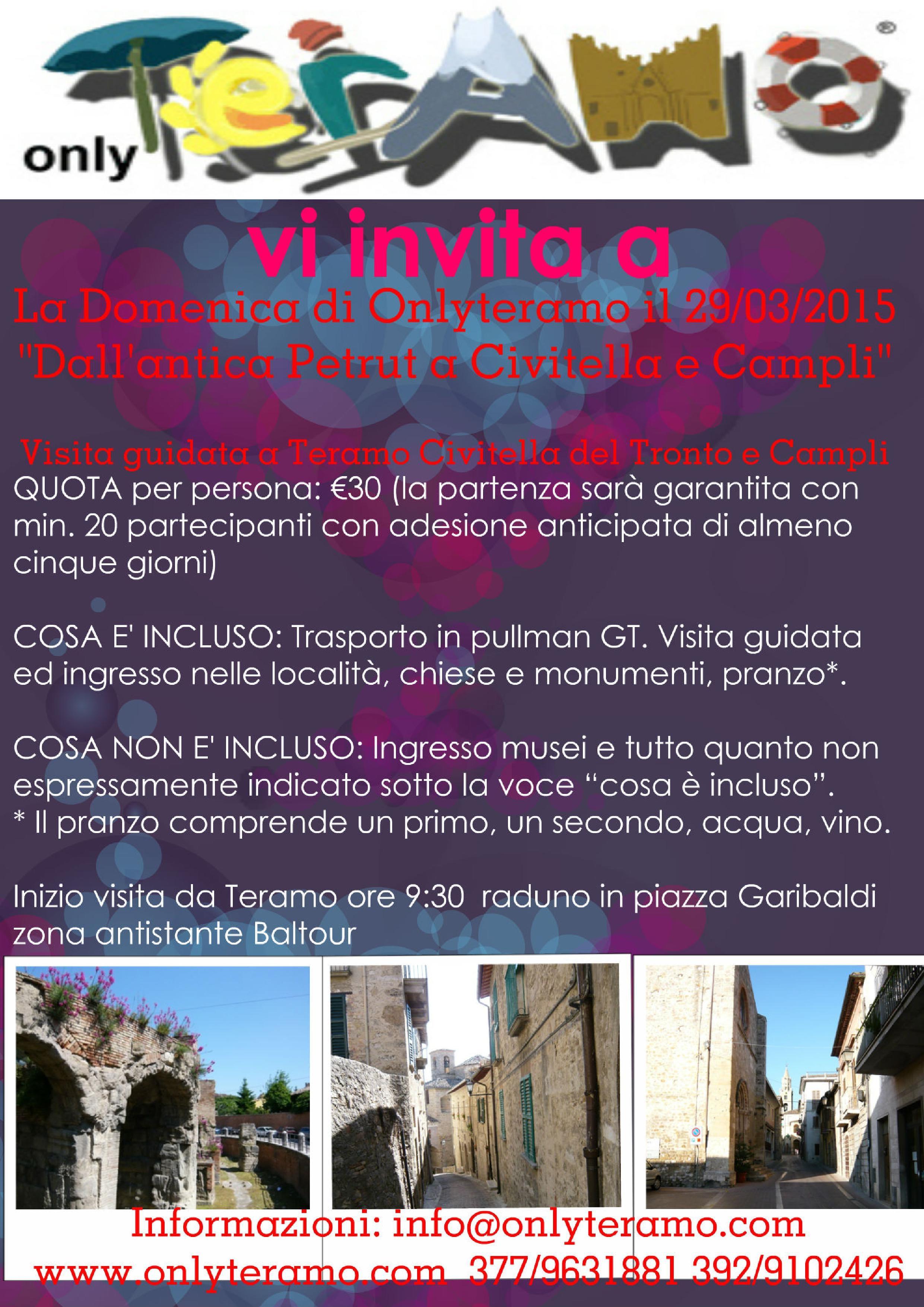 """"""" La Domenica di Onlyteramo"""" il 29/03/2015"""