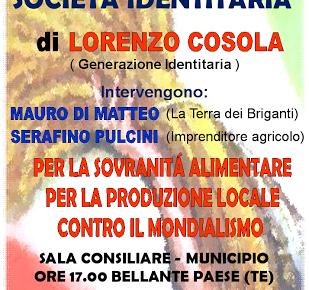 L'AGRICOLTURA nella SOCIETA' IDENTITARIA - Sabato 18 aprile 2015 Bellante Paese alle ore 17.00