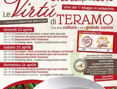 Le Virtù di Teramo Città Della Grande Cucina Dal 24 al 26 Aprile a Teramo