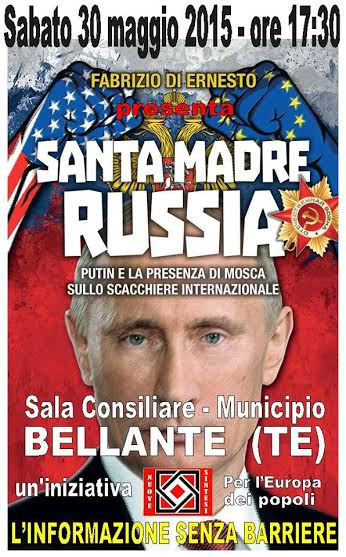 """Presentazione libro :  """"SANTA MADRE RUSSIA - PUTIN E LA PRESENZA DI MOSCA SULLO SCACCHIERE INTERNAZIONALE"""""""