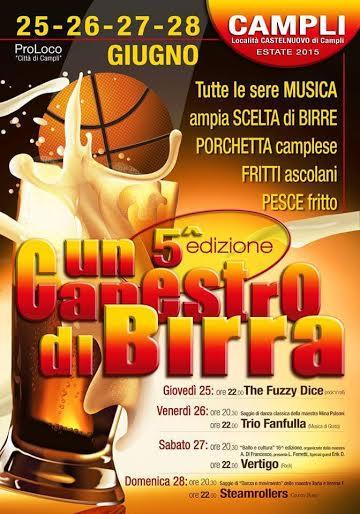 UN CANESTRO DI BIRRA a Castelnuovo di Campli