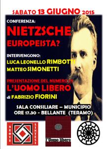 """""""NIETZSCHE EUROPEISTA?"""" - Presentazione del n°79 de """"L'UOMO LIBERO"""""""