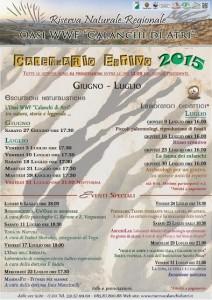 Programma Estate 2015 all'Oasi WWF Calanchi di Atri
