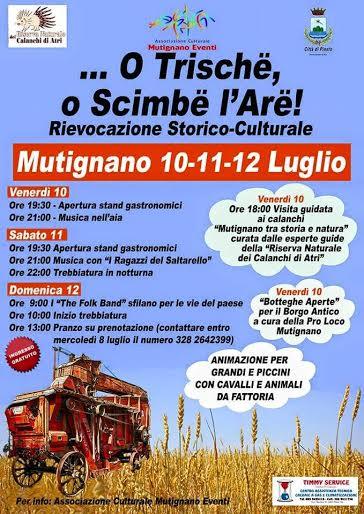 O trishe o scimbe l'are, rievocazione storico culturale a Mutignano