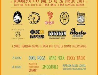 Festival di Birre Artigianali dal 23 al 26 Luglio Notaresco