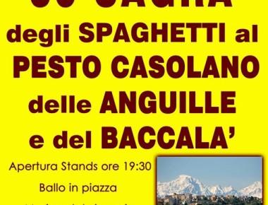 Sagra degli spaghetti al pesto casolano, delle anguille e del baccalà