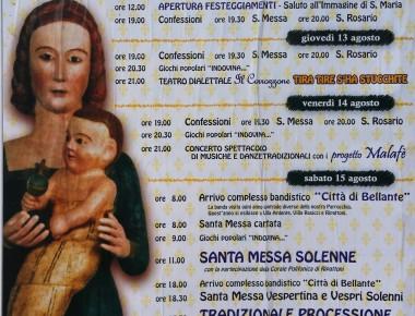Festa in Onore di S. Maria in Herulis dal 12 al 15 agosto Ripattoni