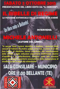 IL RIBELLE DI REGIME SABATO 3 OTTOBRE 2015 BELLANTE