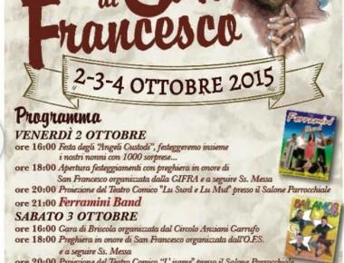 FESTA DI SAN FRANCESCO  a Garrufo di Sant'Omero
