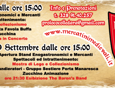Mercatini Medievali 18 e 19 settembre Colledara