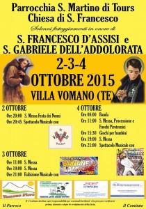 FESTA DI S.FRANCESCO e S.GABRIELE, Villa Vomano