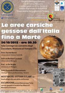 Le aree carsiche gessose dall'Italia a Marte
