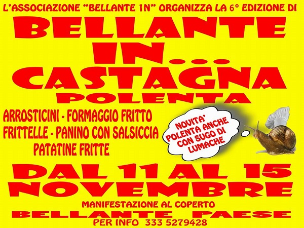 Bellante… in Castagna!