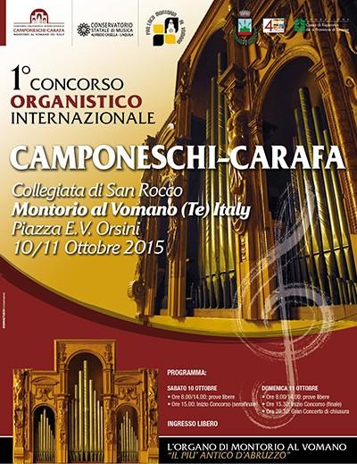 """° CONCORSO ORGANISTICO INTERNAZIONALE """"CAMPONESCHI-CARAFA"""""""