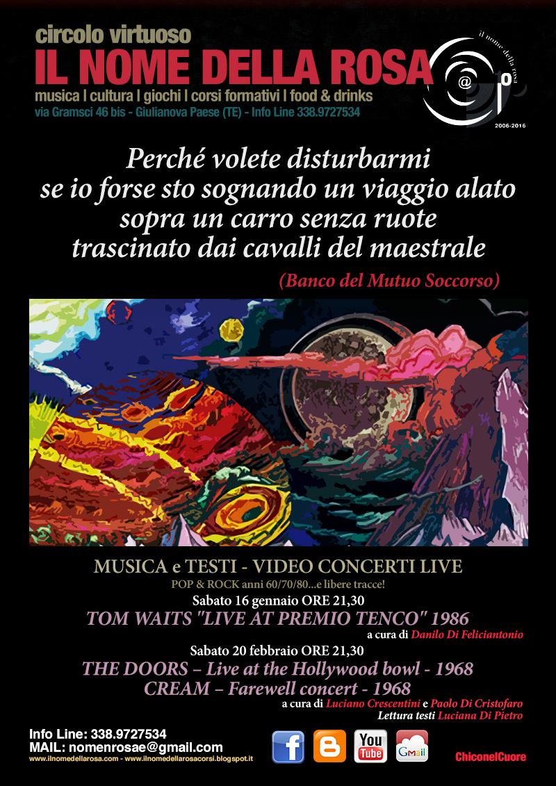 """TOM WAITS """"LIVE AT PREMIO TENCO"""" 1986"""