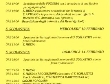 FESTA IN ONORE DI SANTA SCOLASTICA