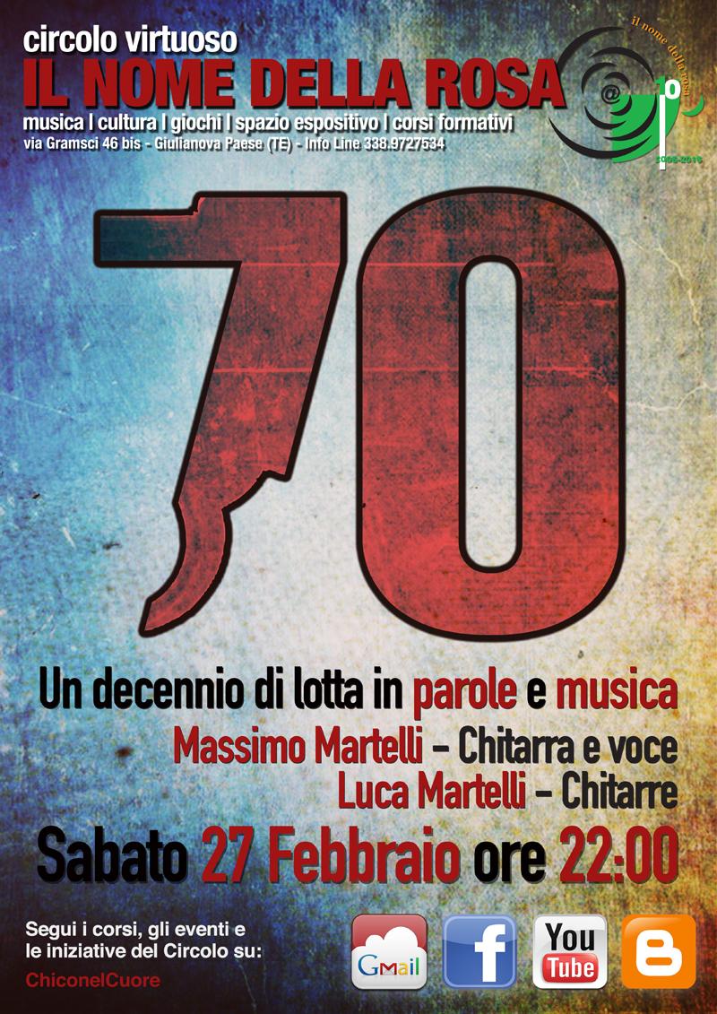 "MUSICA LIVE  ""SETTANTA"""
