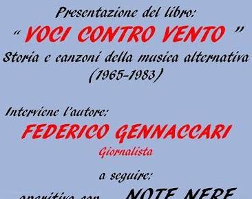 """""""VOCI CONTRO VENTO. STORIA e CANZONI della MUSICA ALTERNATIVA"""""""