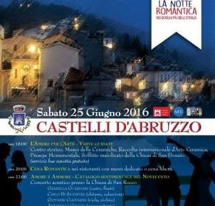 Castelli - LA NOTTE ROMANTICA sabato 25 giugno