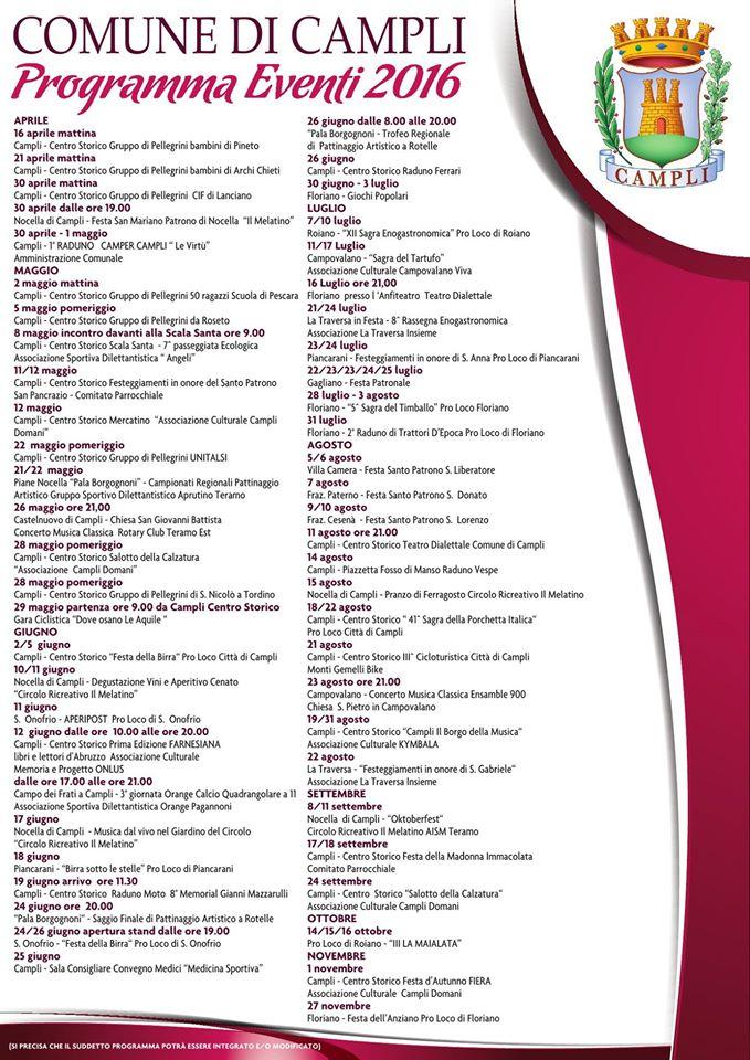 Campli -Eventi comune di Campli 2016