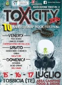 TOXICITY ROCK FESTIVAL 15/16/17 luglio 2016