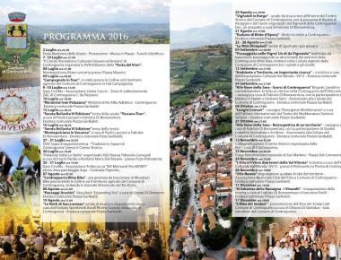 Programma culturale 2016 del Comune di Controguerra.