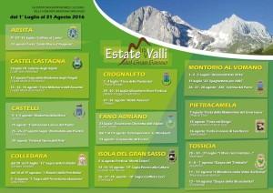Estate tra le Valli del Gran Sasso Dal 1° luglio al 31 agosto
