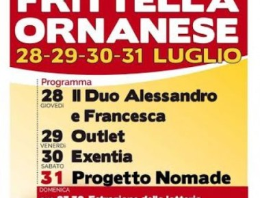 XII SAGRA DELLA FRITTELLA ORNANESE dal 28 al 31 LUGLIO