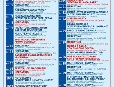 Martinsicuro - calendario eventi luglio 2016