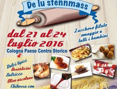 Sagra De Lu Stennmass dal  21 al 24 Luglio 2016