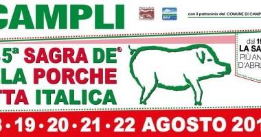 Campli -  SAGRA DELLA PORCHETTA ITALICA dal 18 al 22 agosto 2016