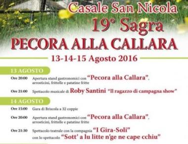 Casale San Nicola - SAGRA DELLA PECORA ALLA CALLARA dal 13 al 15 agosto 2016