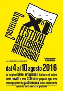 XI edizione FESTIVAL DELLE BIRRE ARTIGIANALI dal 4 al 10 AGOSTO 2016