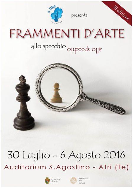 FRAMMENTI D'ARTE dal  30 luglio al 6 agosto 2016