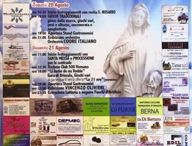 Contrada Vasto -  Festa Madonna della Pace 20 e 21 agosto  2016
