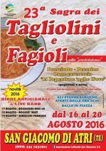 SAGRA DEI TAGLIOLINI E FAGIOLI  dal 16 al 20 agosto 2016