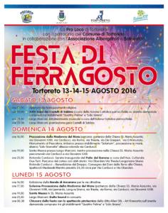 Tortoreto - FESTA DI FERRAGOSTO dal 13 al 15 agosto 2016