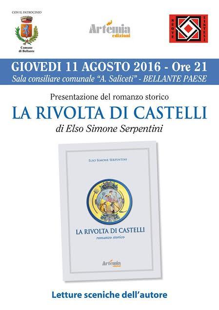 """""""LA RIVOLTA DI CASTELLI"""" GIOVEDì 11 AGOSTO 2016, ORE 21.00"""