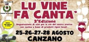 LU VINE FA CANTA' dal 25 al 28 agosto 2016