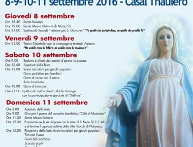 CASALE IN FESTA dal 8 al 11 settembre 2016