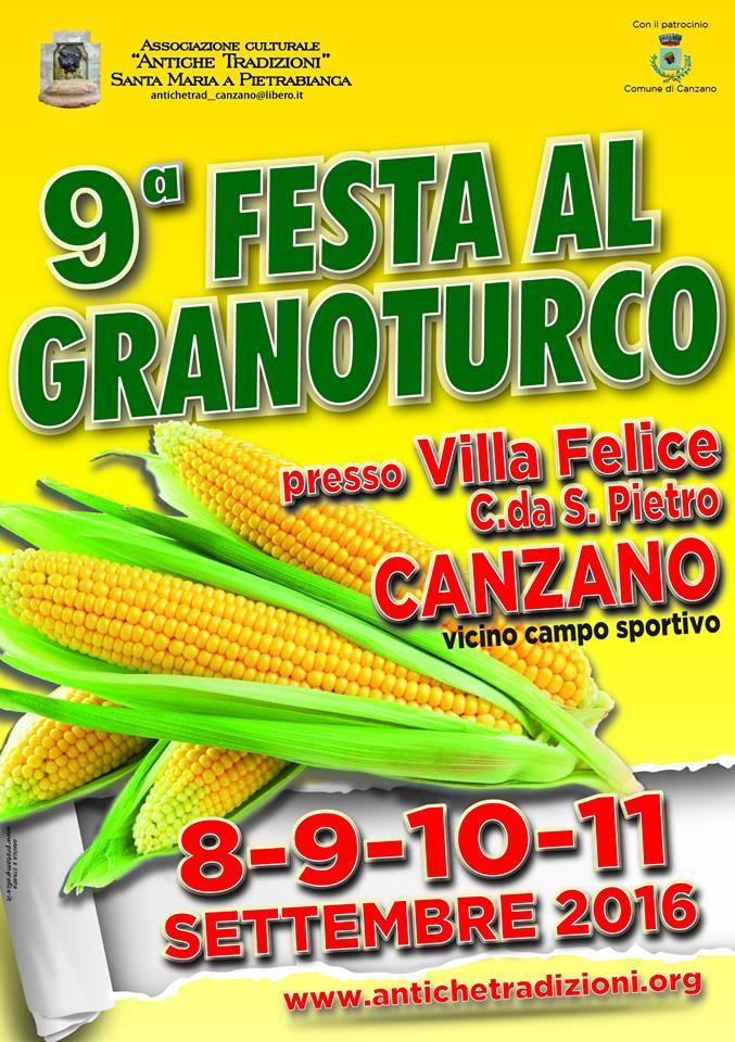 FESTA AL GRANOTURCO dal 8 al 11 settembre 2016