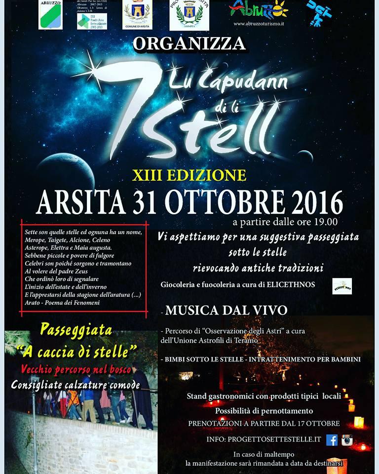 LU CAPUDANN DI LI SETT STELL 31 ottobre 2016