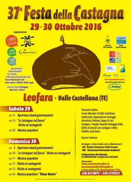 Leofara - FESTA DELLA CASTAGNA 29-30 ottobre 2016