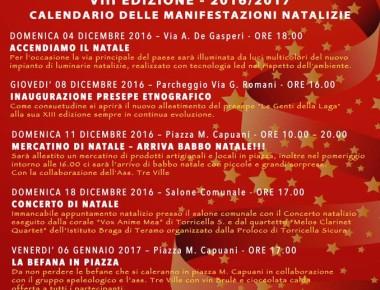 NATALE A TORRICELLA SICURA dal 01/12/2016 al 08/01/2017