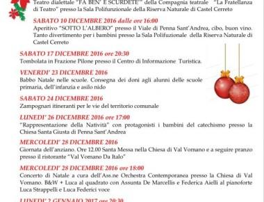 Natale A Penna Sant'Andrea  08 Dicembre 2016 - 06 Gennaio 2017