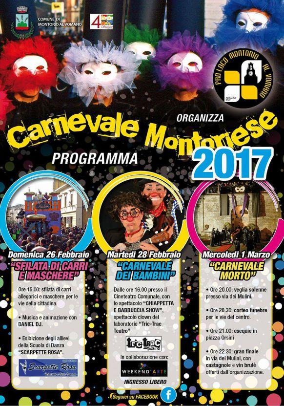 Carnevale Montoriese dal 26/02 al 1/03/2017