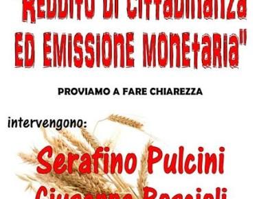 """""""REDDITO di CITTADINANZA ed EMISSIONE MONETARIA"""" 4 MARZO 2017"""