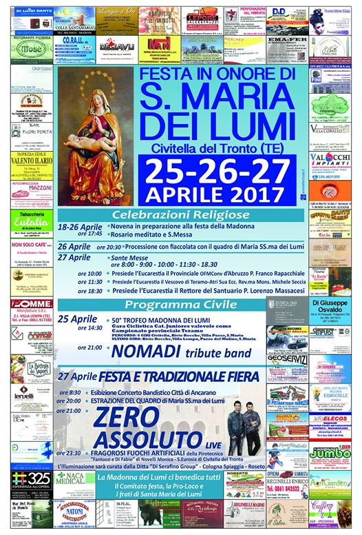 Civitella del Tronto - Festa S.Maria dei Lumi 2017 25/26/27 Aprile