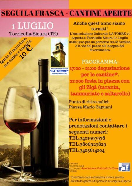 Torricella Sicura - SEGUI LA FRASCA  CANTINE APERTE 1 luglio 2017